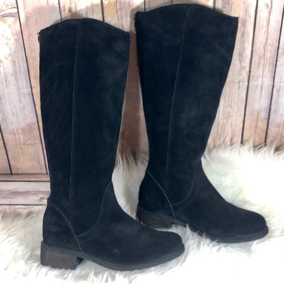 d74db44ac88 🎀 NWOT Ugg Seldon black suede tall boots 7